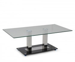 CEBU Sofabord 120 x 65 cm H: 45 cm. Glass/chrome